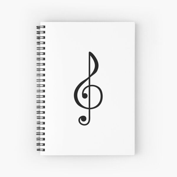 Treble Clef Symbol Spiral Notebook