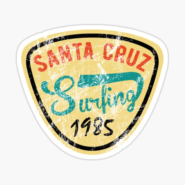 Santa Cruz Surfing Sticker