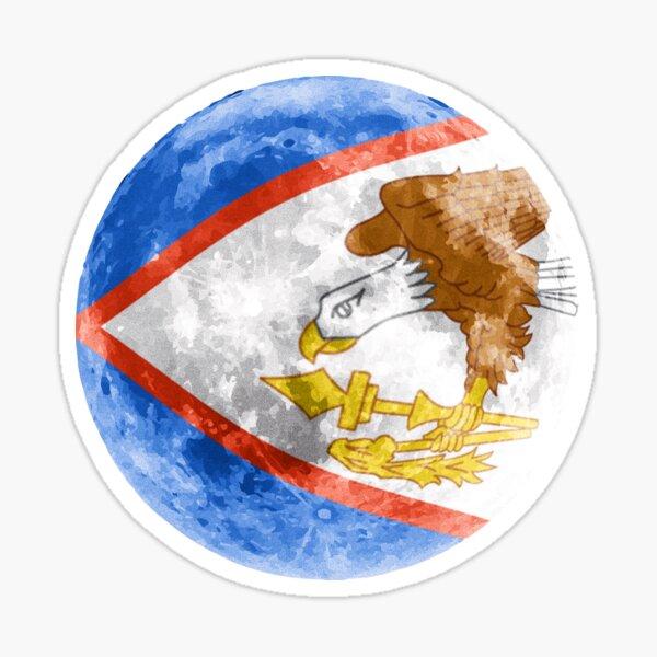 PACK of 25 American Samoa Vinyl Waterproof Flag Decals American Samoan stickers