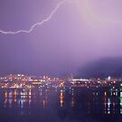 Stormy night ~ City by the Bay by Clive