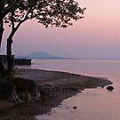 Sunset, Lake Biwa, Japan. by johnrf