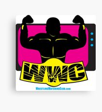 SFWWC Funky Retro Wrestling Logo 80s Style Canvas Print