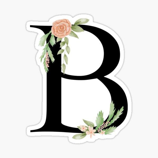 Botanical letter B alphabet Sticker