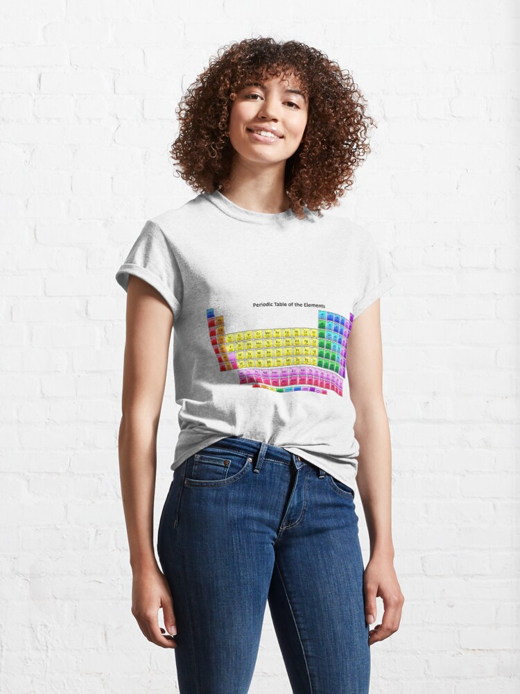 Alternate view of #Mendeleev's #Periodic #Table of the #Elements Classic T-Shirt