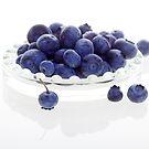 Blueberries on Glass by RandiScott