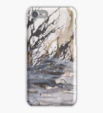 Desolation: A Winter Mixed Media Artwork iPhone Case/Skin