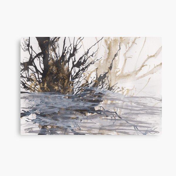 Desolation: A Winter Mixed Media Artwork Metal Print