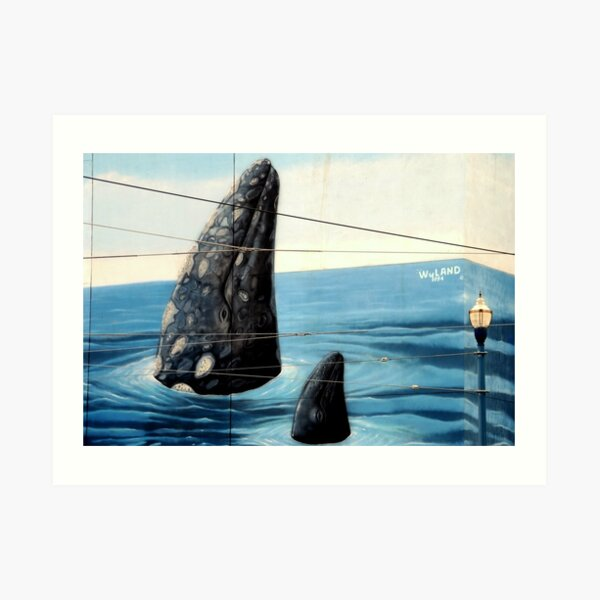 ~Wyland Whaling Wall Pier 39~ Art Print
