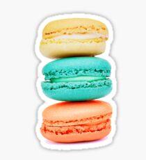 Stapel Macarons - Coral Aqua und Gelb Sticker
