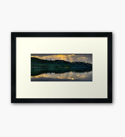 A Little Ray Of Sunshine -Narrabeen Lakes, Sydney - The HDR Experience  Framed Print