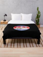 Cambodia Cambodian Flag Moon - Gift For Cambodian From Cambodia Throw Blanket