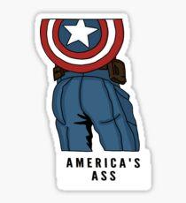America's Ass - Cap. Aufkleber Sticker