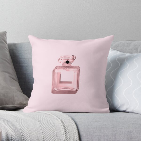 Perfume - Pink Throw Pillow