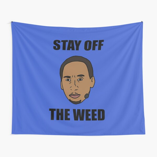 "Stephen A. Smith ""Stay Off The Weed"" Tapestry"