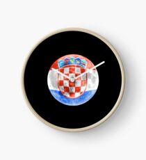Croatia Croatian Flag Moon - Gift For Croatian From Croatia Uhr