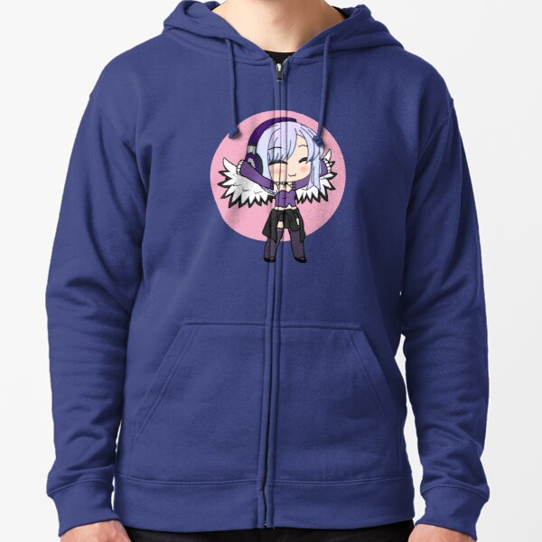 Gacha Series Girl Naomi Luna - cute Gacha Girl with wings Zipped Hoodie