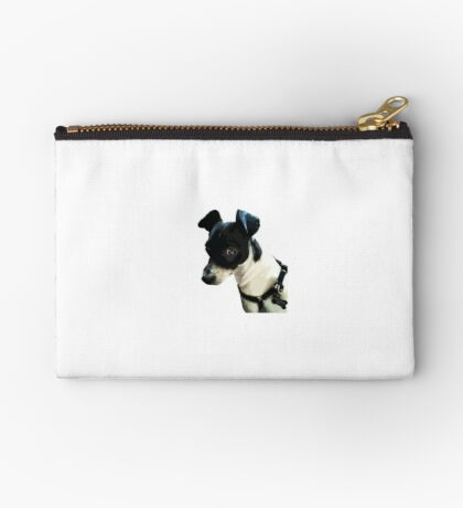 Carl the Rat Terrier Zipper Pouch