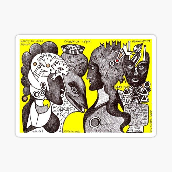 Eneide (the travel of Aeneas) illustration  Sticker