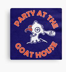 Party im Ziegenhaus (Blau) Leinwanddruck