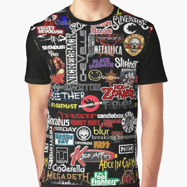 Rock n Roll Bands Graphic T-Shirt