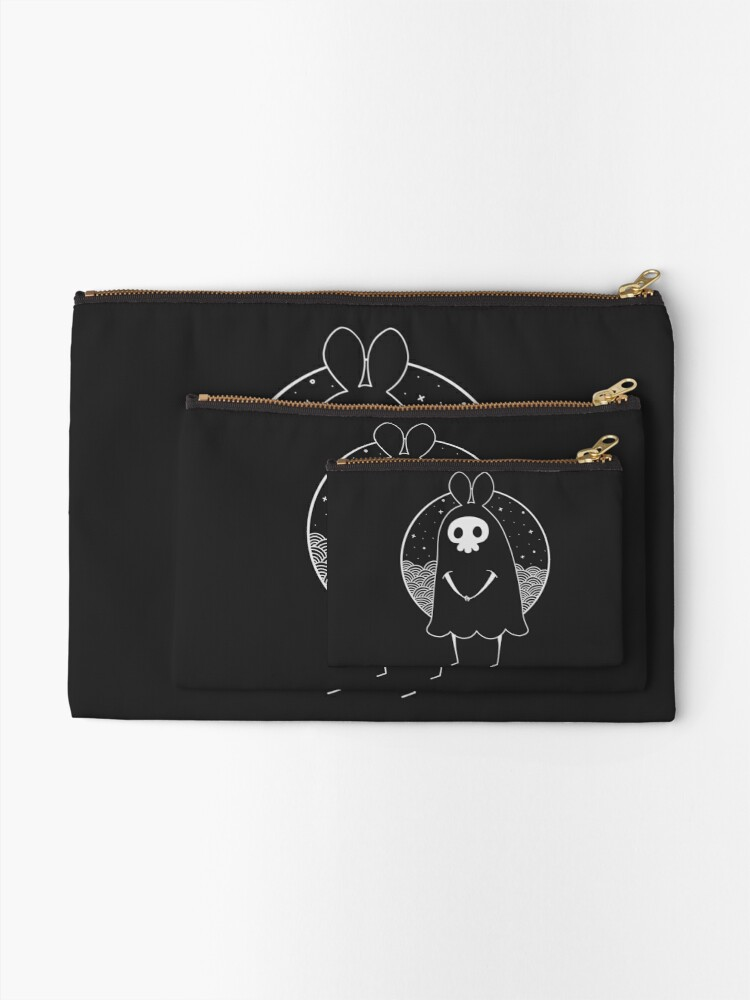 Alternate view of Death Bunny a Zipper Pouch