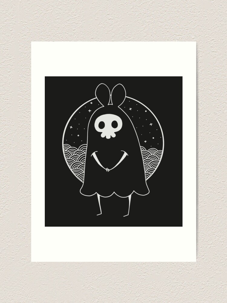 Alternate view of Death Bunny a Art Print
