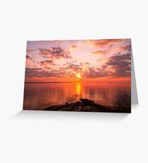New England Sunrise Greeting Card