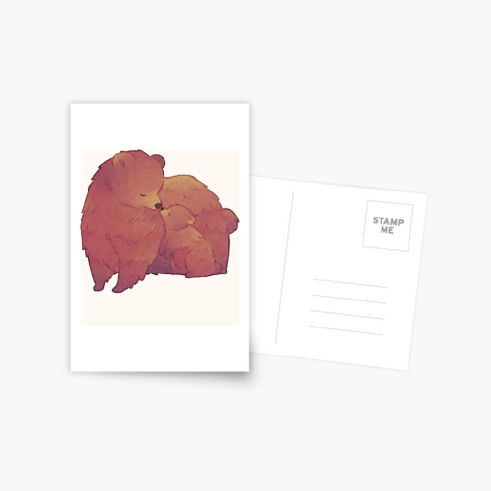 Mama Bear & Cub - [Light BG] Postcard