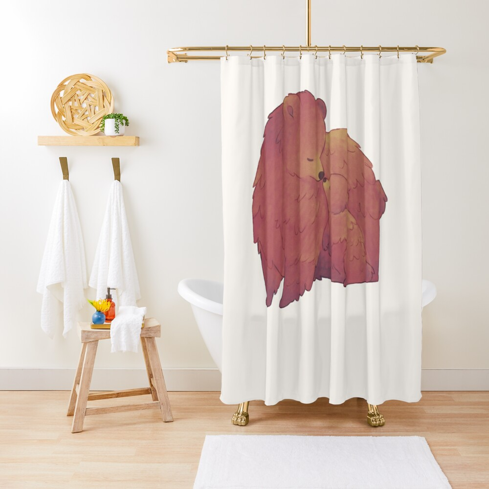 Mama Bear & Cub - [Light BG] Shower Curtain
