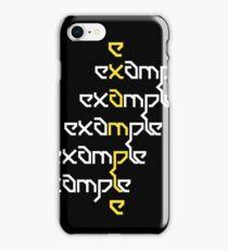 Example - Crossed Words iPhone Case/Skin