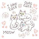 «Gatos lindos» de Anna Syroed