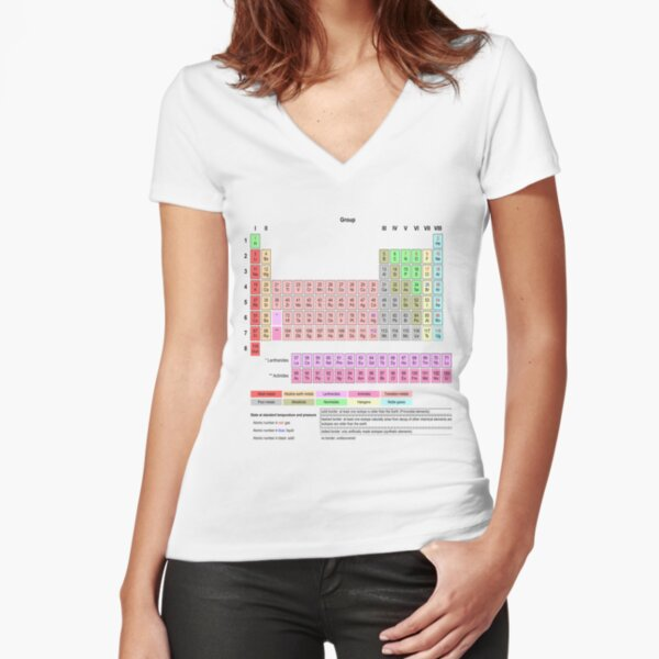#Periodic #Table of #Elements #PeriodicTableofElements Fitted V-Neck T-Shirt