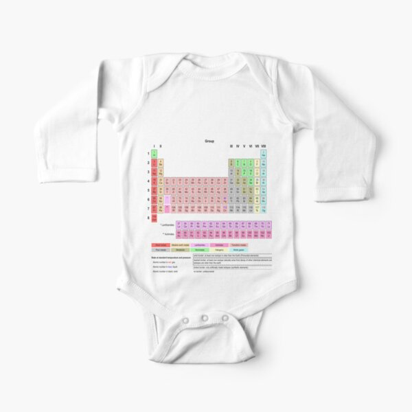 #Periodic #Table of #Elements #PeriodicTableofElements Long Sleeve Baby One-Piece
