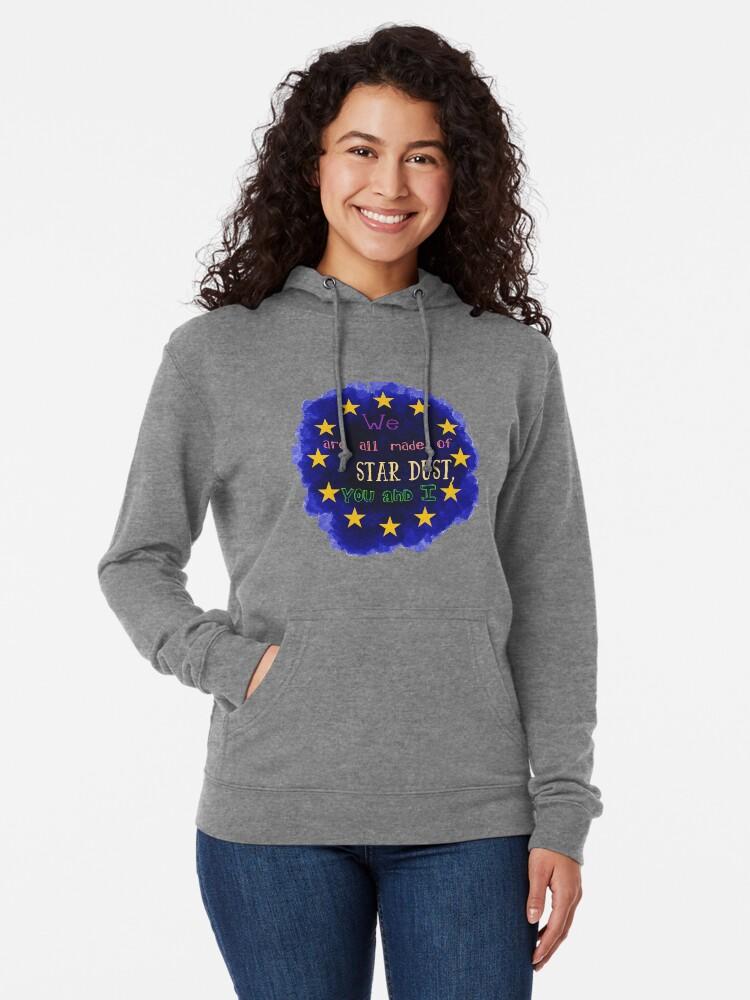Alternate view of Europe - a star chart Lightweight Hoodie