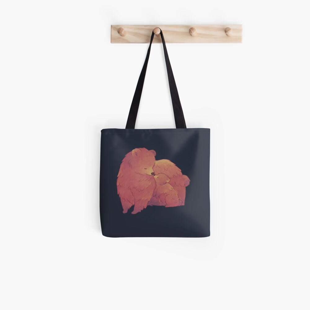 Mama Bear & Cub - [Dark BG] Tote Bag