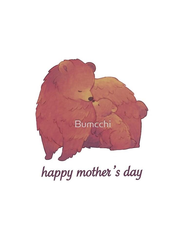 Happy Mothers Day - Mama Bear & Cub [Light BG] by Bumcchi