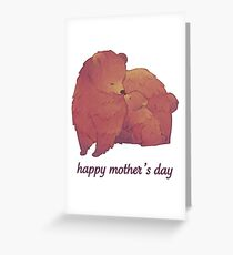 Happy Mothers Day - Mama Bear & Cub [Light BG] Greeting Card