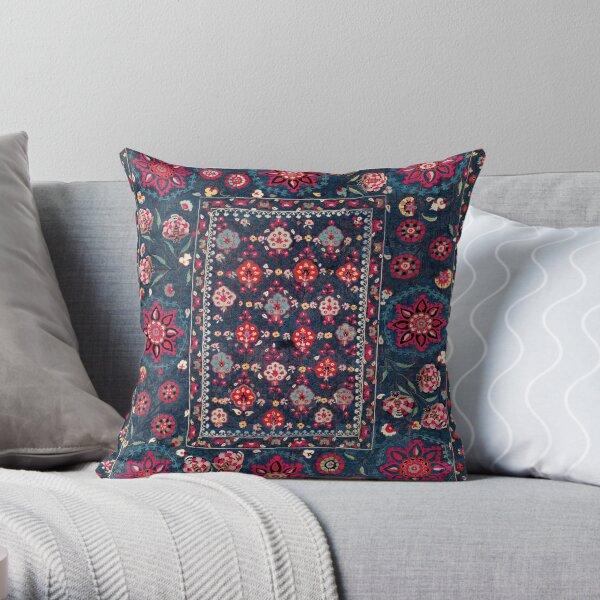 Lakai Suzani Shakhrisyabz Uzbek Embroidery Print Throw Pillow