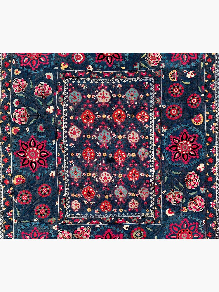Lakai Suzani Shakhrisyabz Uzbek Embroidery Print by bragova