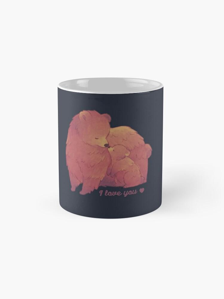 Alternate view of Happy Mothers Day 2 - Mama Bear & Cub [Dark BG] Mug
