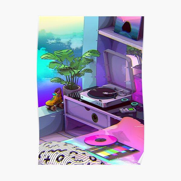 vaporwave aesthetic Poster