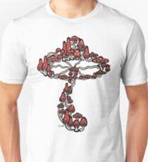 Mushroom made of Mushrooms (red version) Unisex T-Shirt