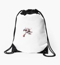 Astray Red Frame Drawstring Bag