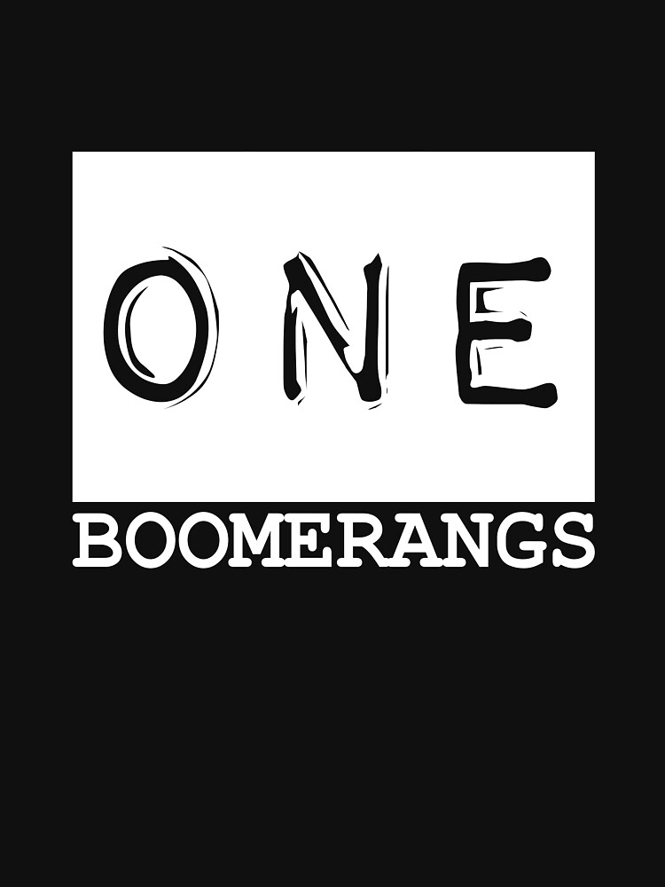 ONE Boomerangs T-Shirt by adam4893