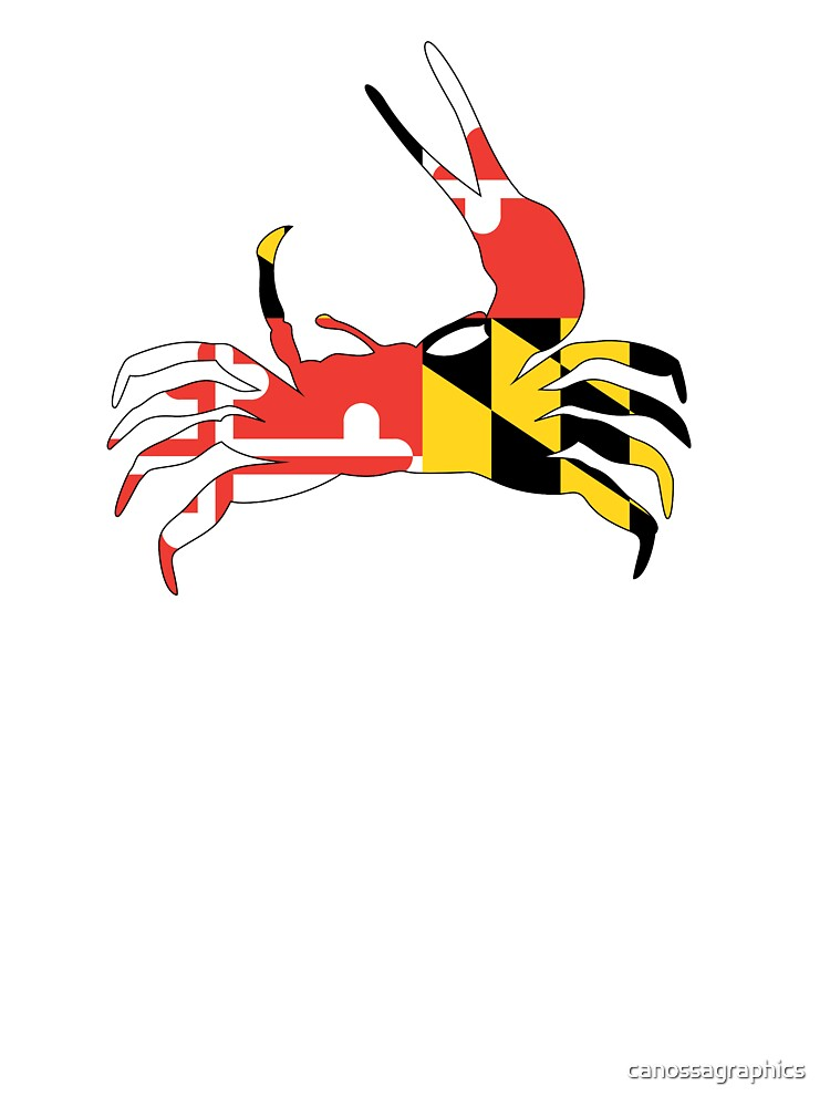Fiddler Crab With Maryland Flag Kids T Shirt By Canossagraphics Redbubble