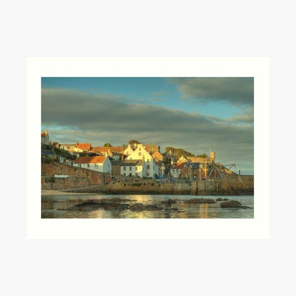 Evening Sun - Crail Harbour Art Print