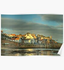 Evening Sun - Crail Harbour Poster