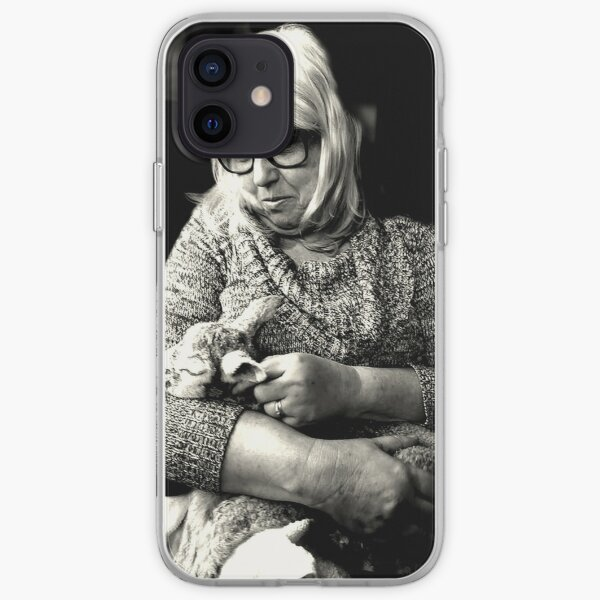 Woman with Lamb iPhone Soft Case