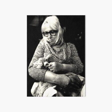 Woman with Lamb Art Board Print