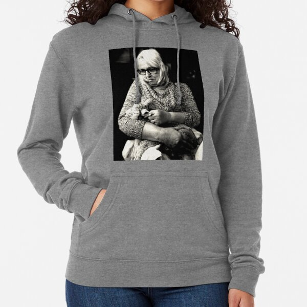 Woman with Lamb Lightweight Hoodie